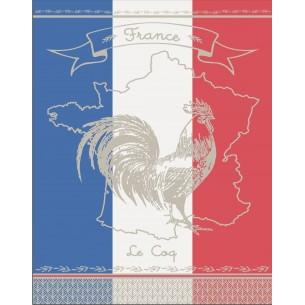 TORCHON VIVE LA FRANCE 50X70 - Lot de 3